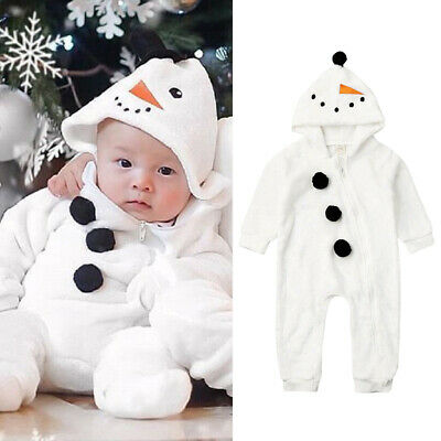 £10.49 • Buy Newborn Baby Boy Girl Snowman Cosplay Costume Romper Jumpsuit Outfit Clothes Set