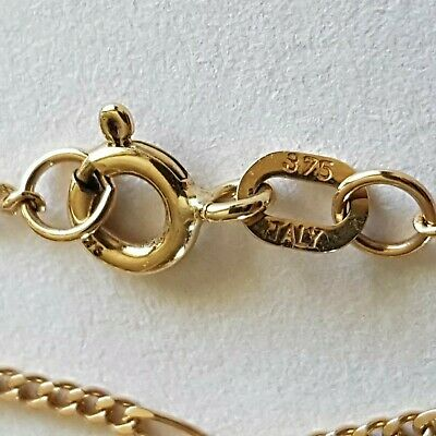 AU135.50 • Buy Beautiful Solid 9ct Gold Figaro Chain Necklace. 2.06g. 375 Italy. Not Scrap.