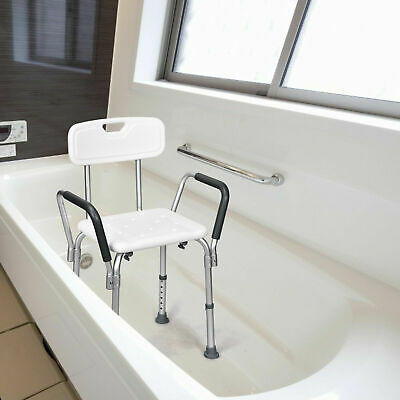 £39.99 • Buy Bath Chair Shower Stool Safety Seat Bathroom Bench Mobility Aid Adjustable New