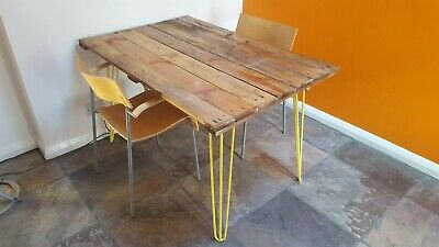 Industrial Reclaimed Upcycled Pallet Board Desk/Table-legs Unscrewed For Transit • 55£