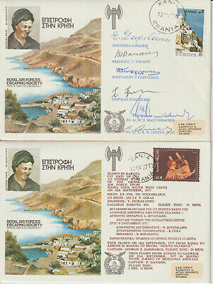 Raf Crete - Signed By 6 Resistance Heroes Cover • 5.99£