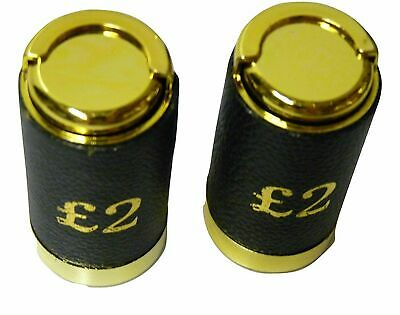 £2.99 • Buy ONE £2 Pound Coin Holder Aprox 12 Coins. Money  Dispenser Change Sorter Leather