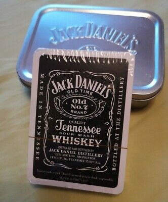 Jack Daniels Playing Cards In Jack Daniels Tobacco Tin. New • 3£
