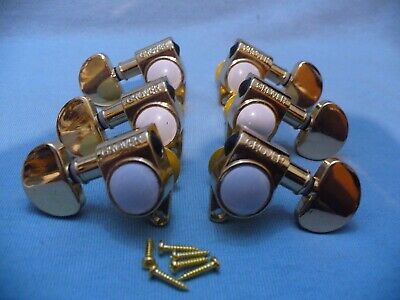$42.95 • Buy Gold Grover Tuners 3 X 3 Set Electric Acoustic Guitar Machine Head Tuning Pegs!