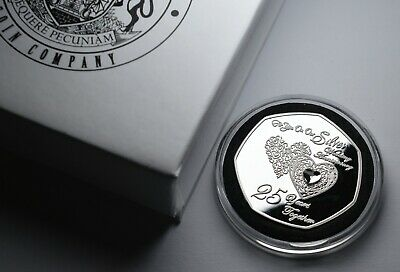 £11.99 • Buy ON OUR 25th SILVER WEDDING ANNIVERSARY Commemorative In Gift Box. Present/Gift