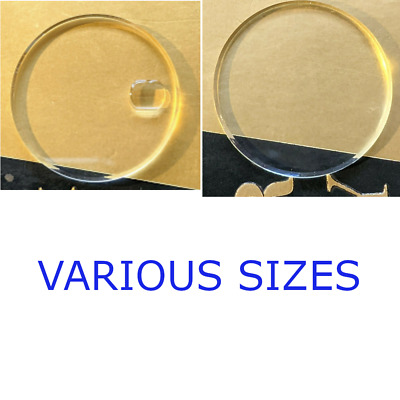 £3.99 • Buy Watch Glass Crystal Replacement Flat Bubble Date Magnifier Repair Various Sizes