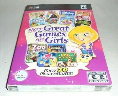 NEW More Great Games For Girls 20 PC GAME LOT IN 1 DOG BOYFRIEND FASHION COOKING • 5.01£