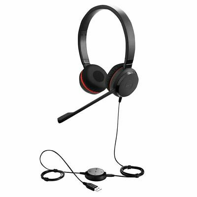 Jabra Evolve 30 II HS SMS Black On-Ear Headband Headset SKYPE, LYNC, ZOOM HSC016 • 39.99£