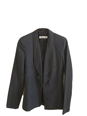 AU58 • Buy Bianca Spender By Carla Zampatti Blue Grey Lightweight Workwear Blazer 6 - 8