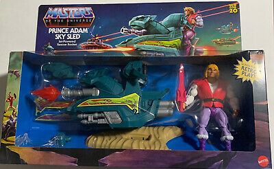 $30 • Buy Masters Of The Universe Orig.  Prince Adam Sky Sled Retro Play '20 Walmart NIB