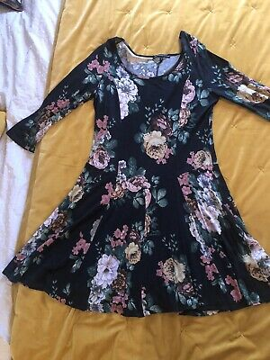 Limited Collection M&S Jersey Floral Dress Size 14 • 2.90£