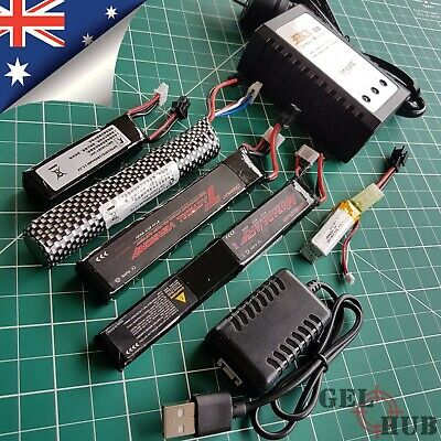 AU39.95 • Buy Upgrade 11.1v/7.4v Lipo Battery Charger Gel Blaster J8 J9 J10 ACR M4A1 HK416 SKD