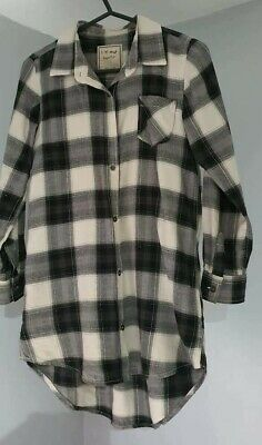 NEXT GIRLS  CHECKED SHIRT DRESS 8y  AGE 8 YEARS • 1.99£
