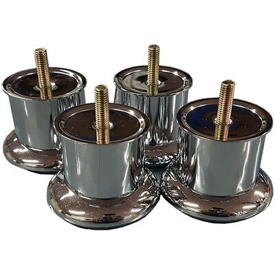 Chrome Furniture Legs/ 50mm Feet For Sofas Beds Chairs Stools Cabinet Glides M8 • 6.95£