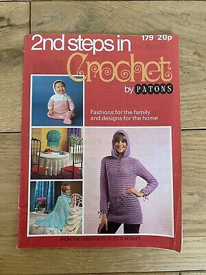 Vintage PATONS 2nd Steps In CROCHET Patterns Fashion For Family And Home Designs • 1.95£