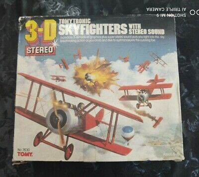 Tomytronic 3D Stereo Skyfighters 80s Electronic Game Boxed **Read Description** • 45£