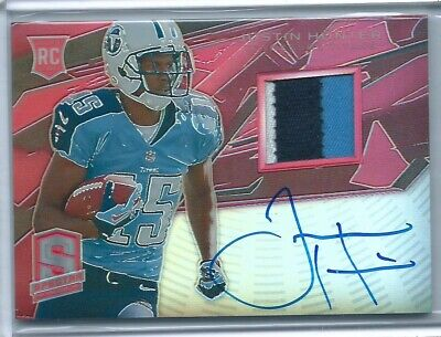 $5 • Buy Justin Hunter 2013 Spectra Rookie Patch Autograph Red #'d/25 Card #216 AUTO
