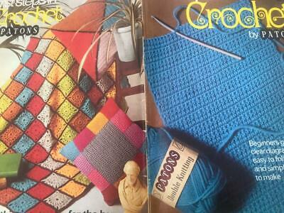 First Steps In Crochet Learn To Crochet & Patterns - Afghan Cushions Baby Items • 2.50£