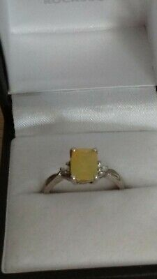 Ethiopian Yellow Opal Sterling Silver Ring • 29.99£
