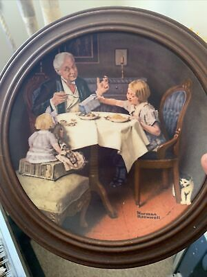 $ CDN9.28 • Buy Norman Rockwell 1985 Collector Plate  THE GOURMET   Edwin M. Knowles - With COA