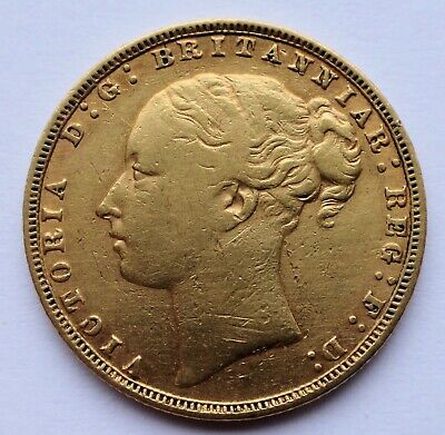 1878 Full Gold Sovereign Queen Victoria In Nice Condition, 7.98 Grams 22ct • 420£