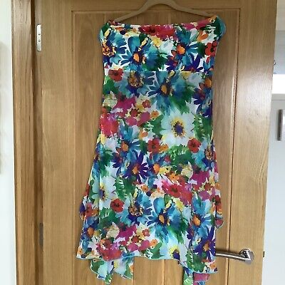 M&Co Pretty Floral Beach Pool Dress Or Long Skirt, Cover Up, Size L/XL • 4£