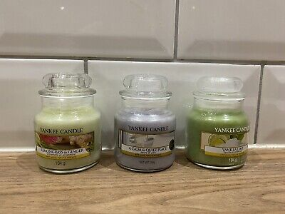 3 X Official Yankee Candle Small Jars 104g • 12£