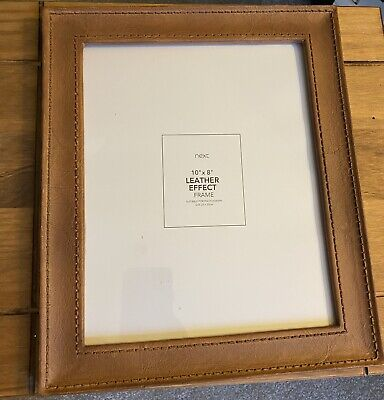 NEXT Leather Effect Photo Frame 10 X 8 Tan • 3.50£