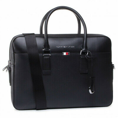 $208.02 • Buy TOMMY HILFIGER Business Office Leather Laptop Bag Slim Cross Body Briefcase File