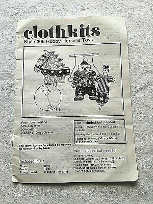 Clothkits * Vintage * Style 306 * Juggling Clown & Jester * No Hobby Horse • 5£