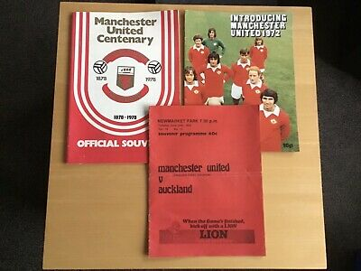 3 X Manchester United 1970s Programmes Picture Booklet Real Madrid • 10.99£