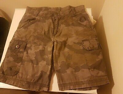 Men's Airwalk Army Camouflage 100% Cotton Cargo Shorts Size M • 9.99£
