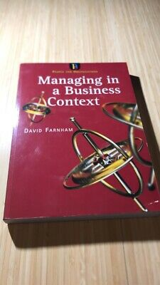 Managing In A Business Context By Daniel Farnham (Paperback, 1999) • 4£