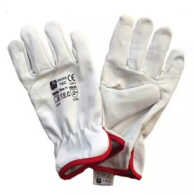 £18 • Buy Drivers Goatskin Protective Gloves Heavy Duty Safety Work Gloves Farmers, DIY