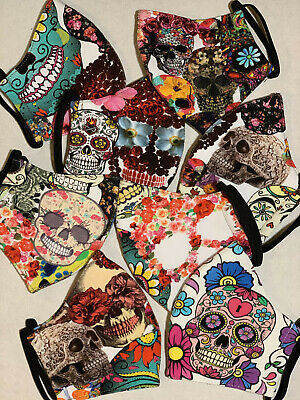 $ CDN9.91 • Buy Face Covers Protection - Triple Layers 100% Cotton - Skulls -  Nice Gift