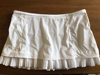 $ CDN72.32 • Buy Lululemon WHITE City Sky Run By Skirt Tennis Skort 10 PLEAT W/pockets RARE