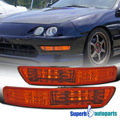$28.48 • Buy For 1998-2001 Acura Integra Front Bumper Lights Turn Signal Lamps Pair