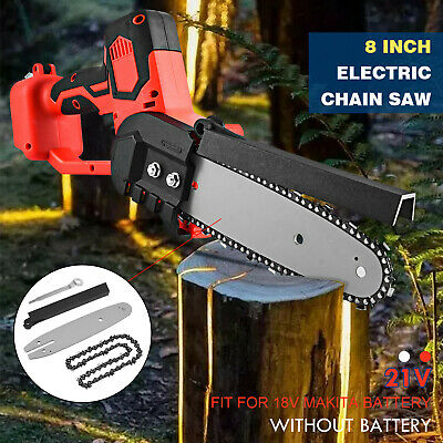 8inch Electric Cordless Chainsaw Chain Saw Multi-function Kit For Makita Battery • 37.99£