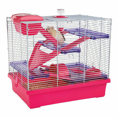 Rosewood Pico XL Hamster Cage - Pink | Mice Mouse House  • 28.99£