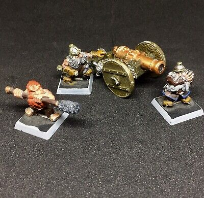 Metal Dwarf Cannon And Crew Rare OOP Warhammer Fantasy AoS Games Workshop • 20.50£