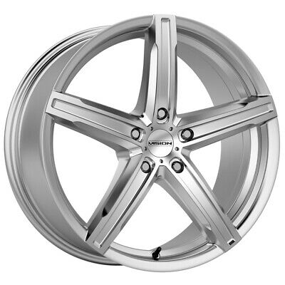 $391.96 • Buy 4-Vision 469 Boost 15x6.5 4x100 +38mm Silver Wheels Rims 15  Inch