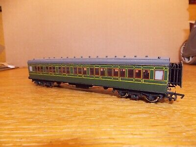 KIT BUILT Ex-LSWR CORRIDOR 1st / 3rd COACH No 3456 In SR Green Livery. 00 Gauge. • 45£
