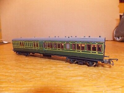 KIT BUILT Ex-LSWR NON CORRIDOR BRAKE 3rd COACH No 9012 SR Green Livery 00 Gauge. • 45£