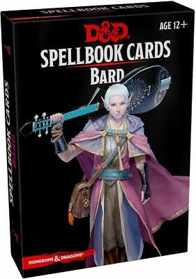 AU31.82 • Buy Bard Spellbook Spell Cards Gale Force 9 GF9 5E RPG DnD Dungeons Dragons D20