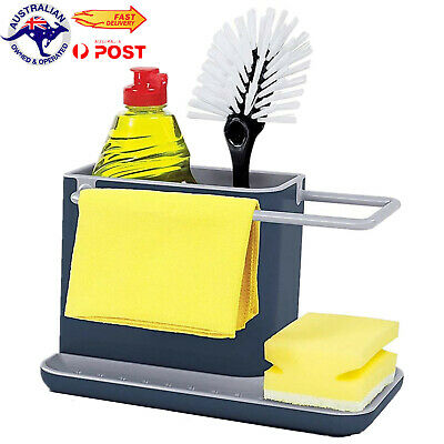 AU13.98 • Buy Caddy Storage Kitchen Sink Utensils Holders Drainer Sponge Holder Kitchen Tool