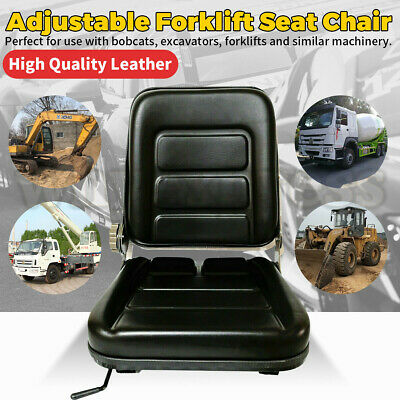 AU63.30 • Buy Forklift Seat Chair Adjustable Leather Bobcat Tractor Excavator Machinery AU New