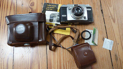 Vintage Ilford Sportsman Camera 35mm With Original Leather Carry Case - Germany • 20£
