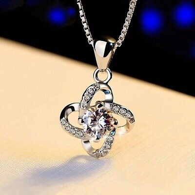 AU23.25 • Buy 925 Sterling Silver Necklace Valentines Day Gift For Her Mom Wife Girlfriend