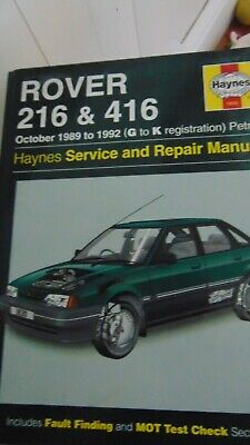 Haynes Rover 216 And 416 Service And Repair Manual • 1£