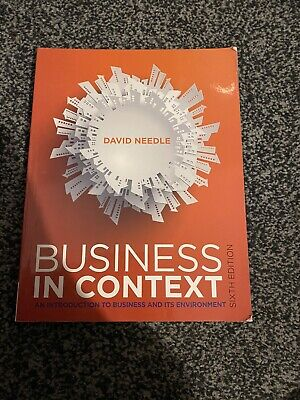 Business In Context By David Needle (Paperback, 2015) • 10£